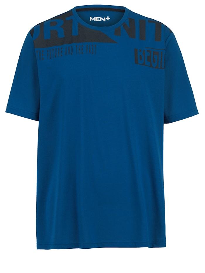 Men Plus T-shirt van sneldrogend materiaal, Blauw/Marine
