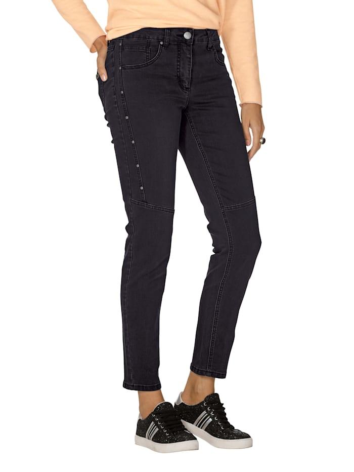 AMY VERMONT Jeans met klinknageltjes, Black