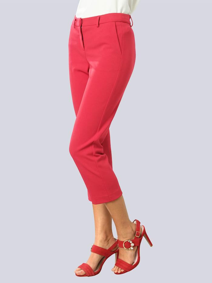 Alba Moda Pantalon en matière facile à entretenir, Rouge