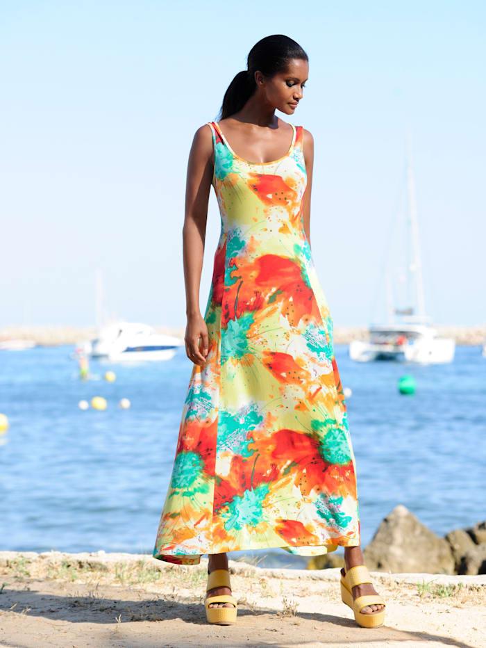 Alba Moda Strandkleid mit sommerlichem Druck, gelb-bunt