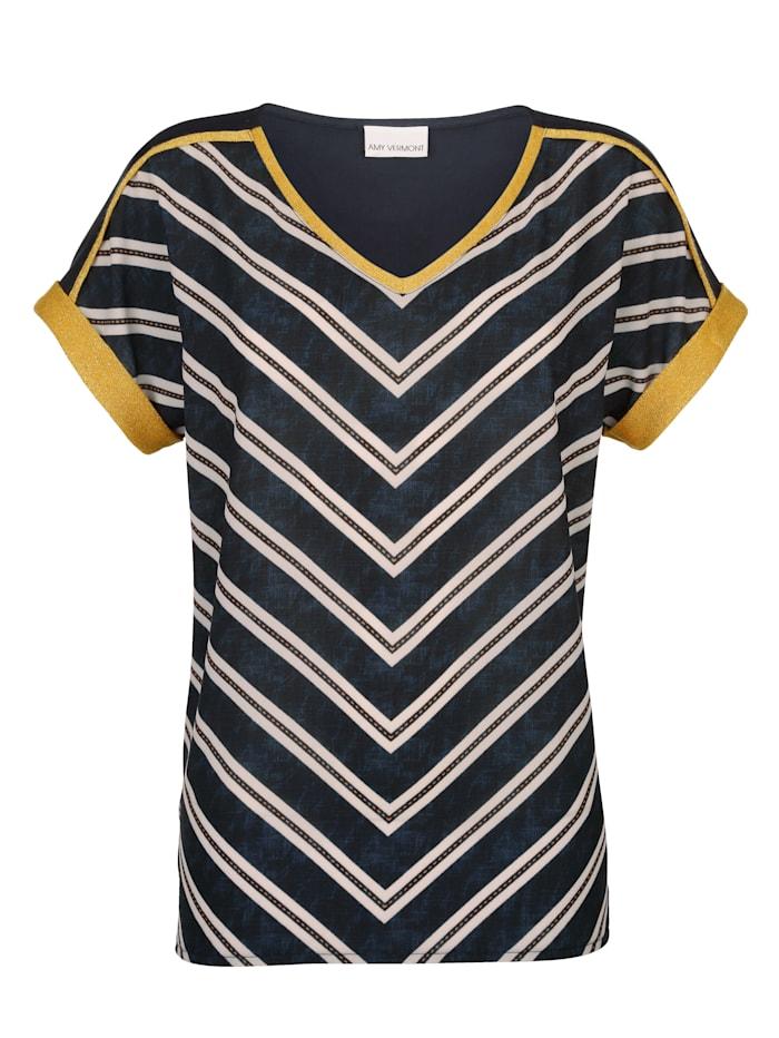 T-shirt avec fil métallisé