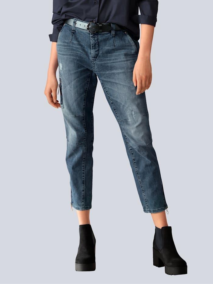 MAC Jeans in Cargoform, Blue stone