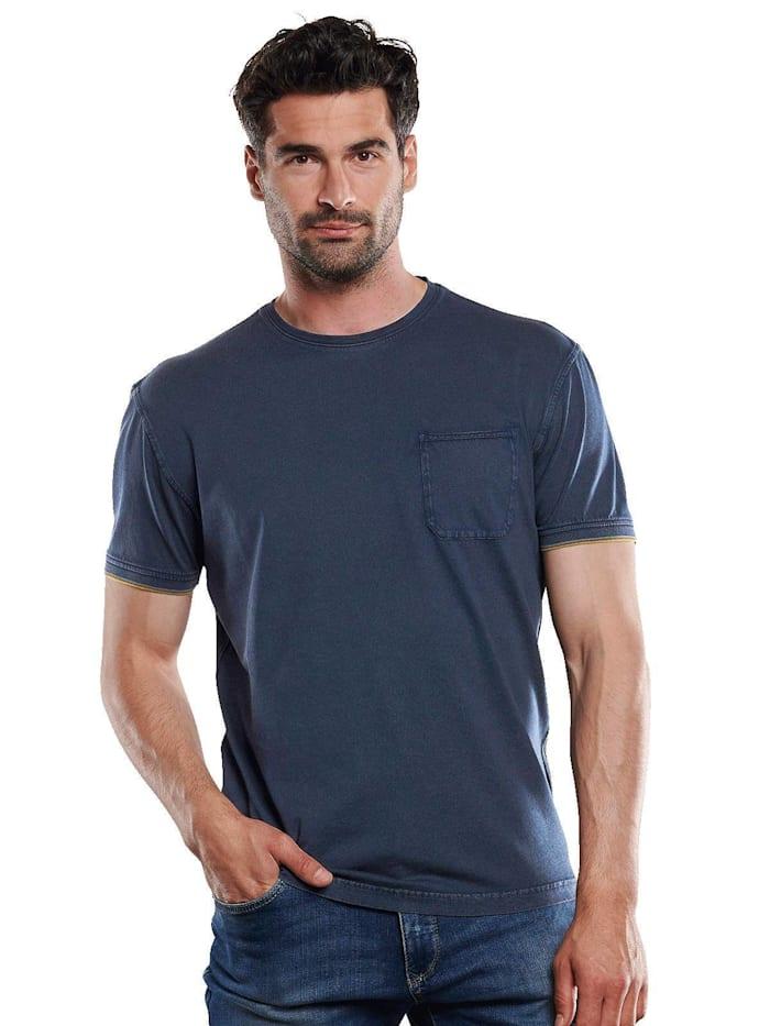 Engbers T-Shirt rundhals, Indigoblau