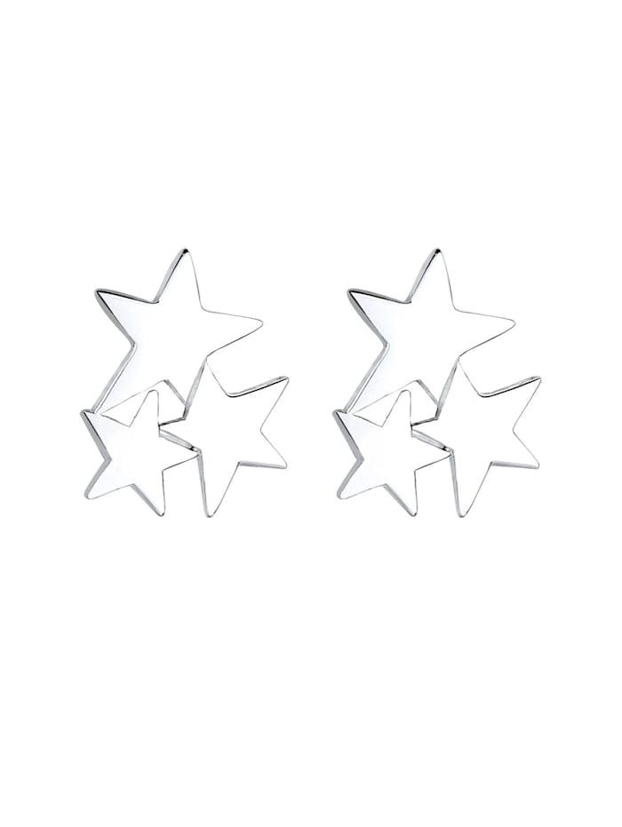 Ohrringe Sterne Stars Astro Stern Trend 925 Silber