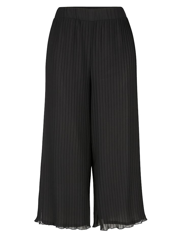 Jupe-culotte à effet plissé