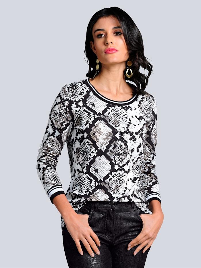 Alba Moda Shirt im exclusiven Dessin nur bei Alba Moda, Off-white/Schwarz