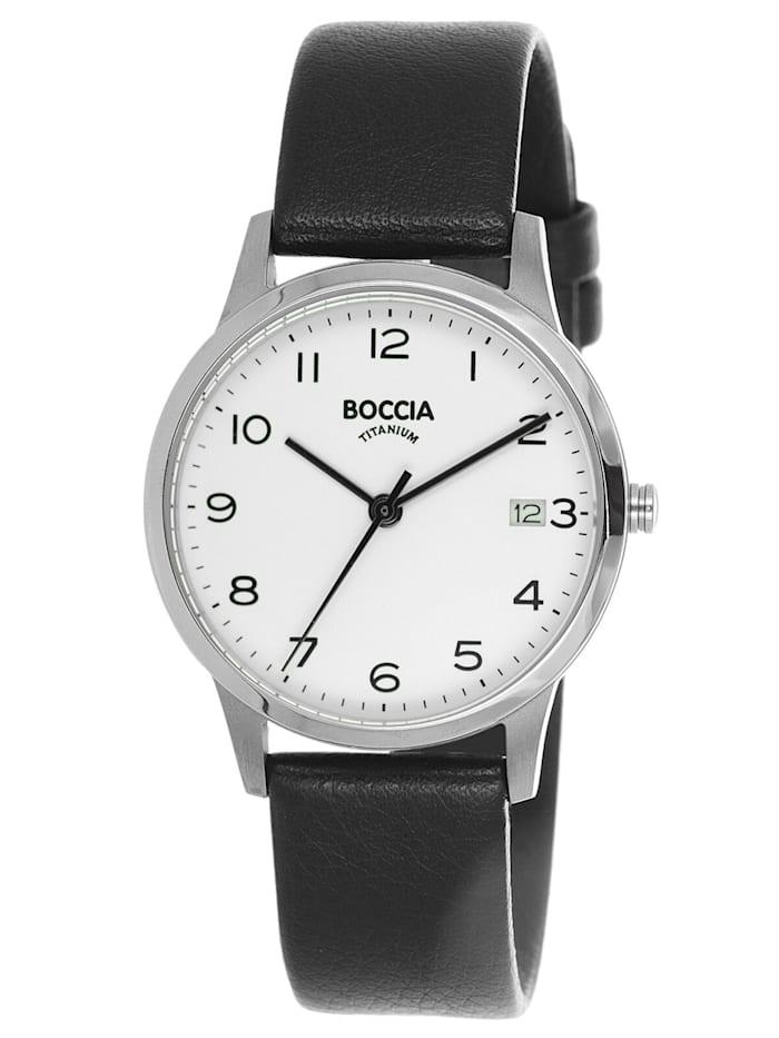 Boccia Titan-Armbanduhr für Damen, Silberfarben