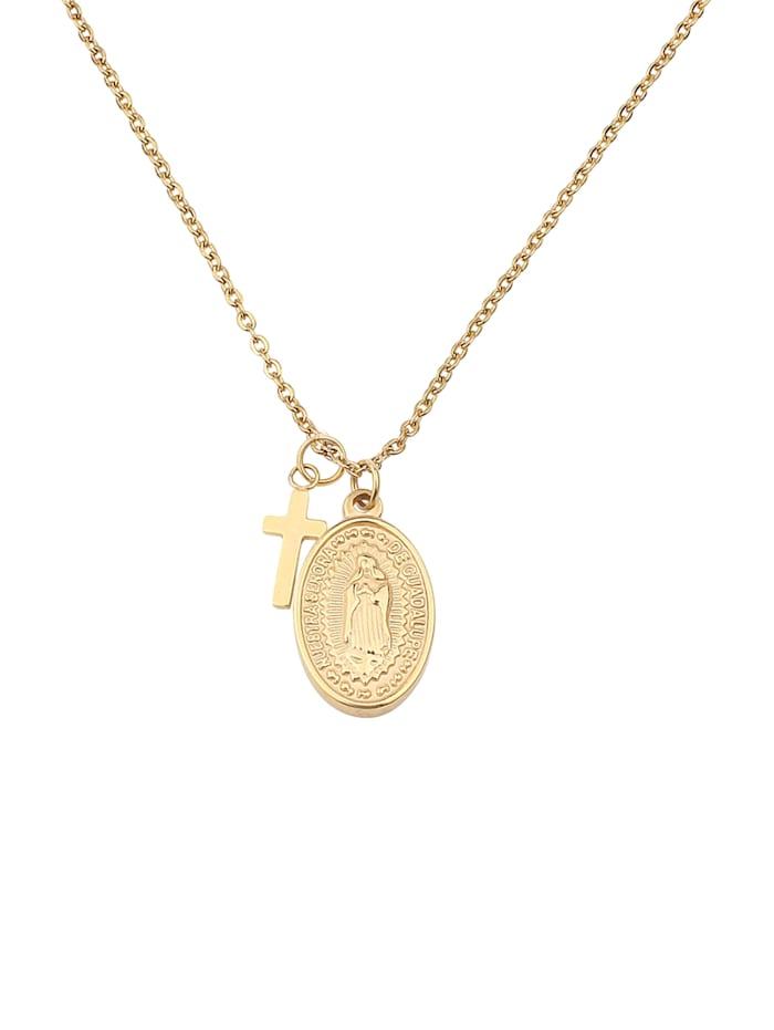 GOOD.designs Kreuzkette Madonna, gold