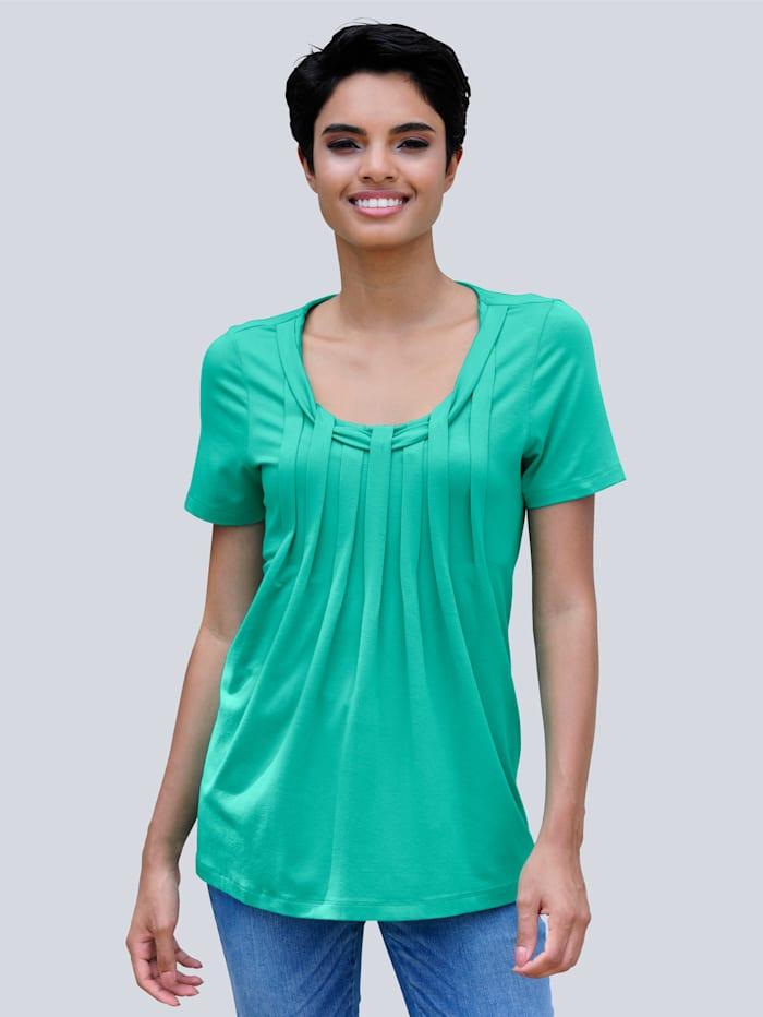 Alba Moda Strandshirt met ronde hals, Smaragdgroen