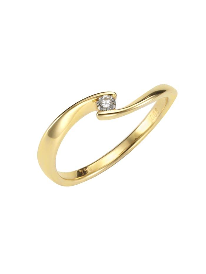 Orolino Ring 750/- Gold Brillant weiß Brillant Glänzend 0,06ct. 750/- Gold, gelb