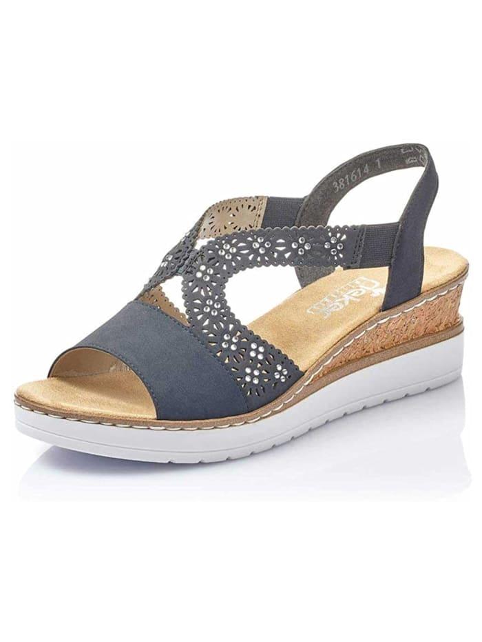 Rieker Damen Sandale in blau, blau