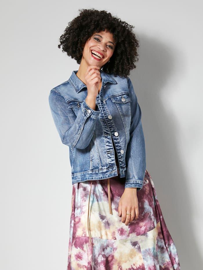 Angel of Style Veste en jean à détail mode au dos, Blue stone