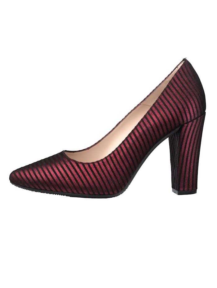 Court Shoes in elegant stripe design