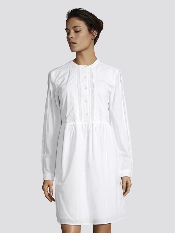 Tom Tailor Kurzes Kleid mit Spitzendetails, White