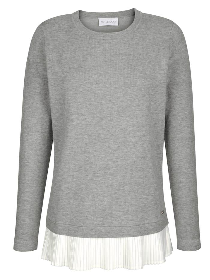 Pullover mit Plisseeeinsatz