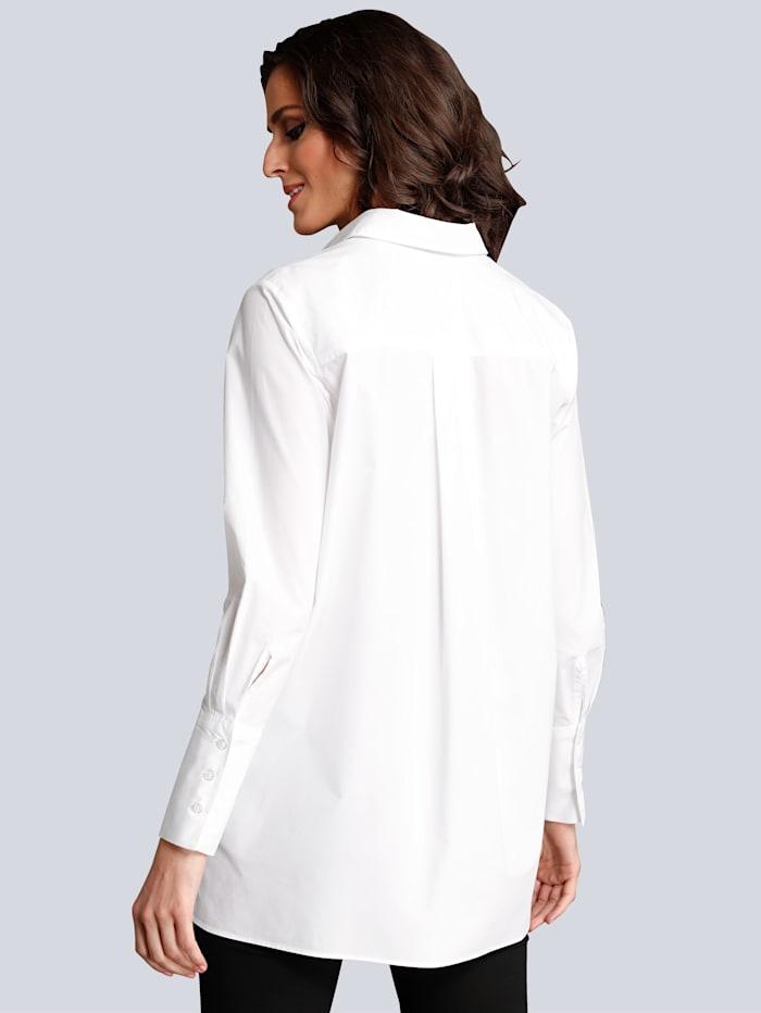 Bluse im langen Stil