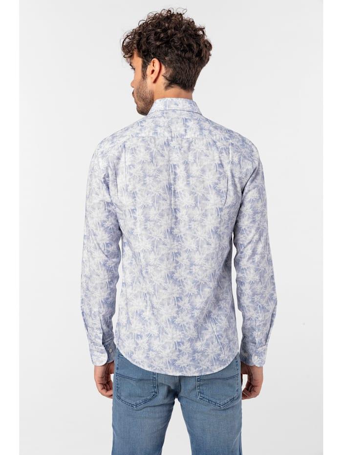 Hemd Lanz mit exotischem Allover-Muster