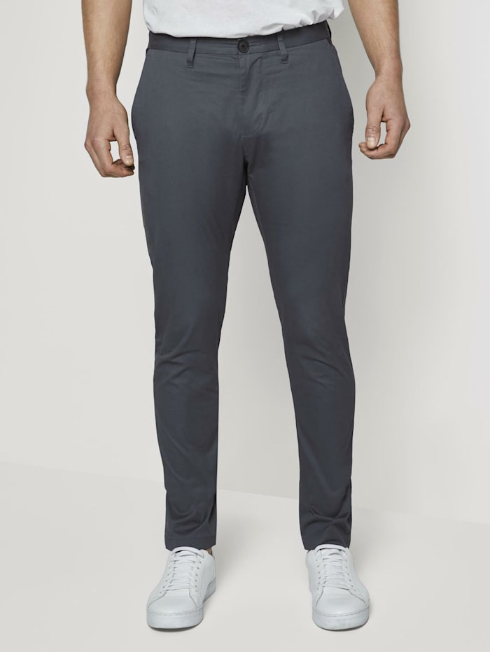 Tom Tailor Chino Hose im Tech-Style, Blueish Grey