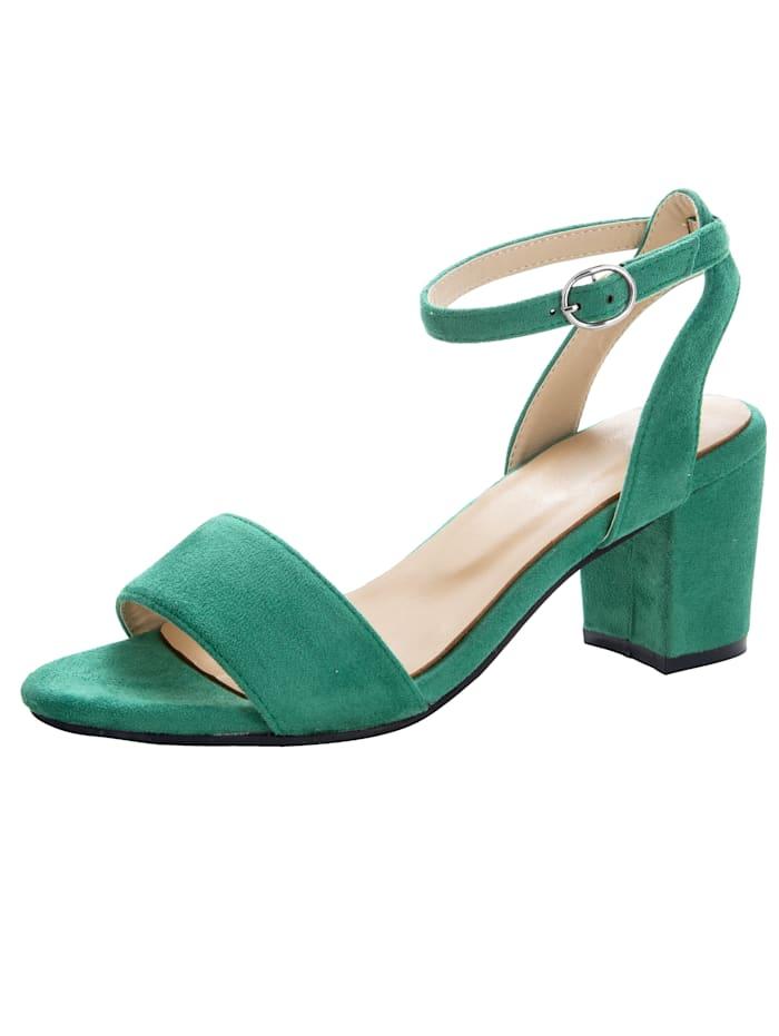 Sandale in trendiger Optik, Grün