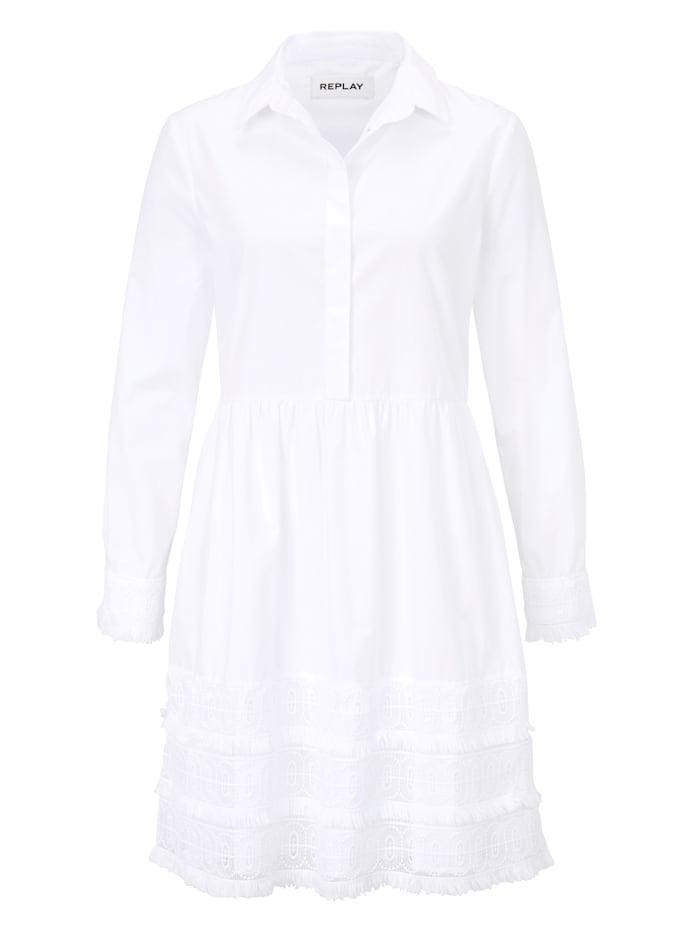 REPLAY Kleid, Weiß