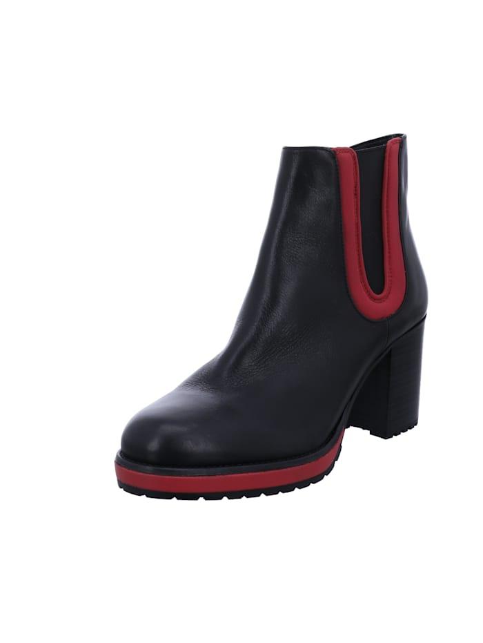 Tizian Tizian Damen-Stiefelette Mauritius 08, schwarz-rot, schwarz-rot