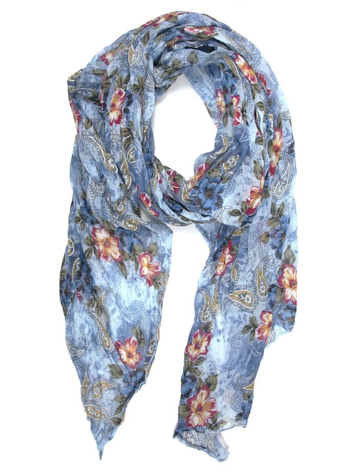 Collezione Alessandro Italienischer Schal Indian Flower Made in Italy, jeans