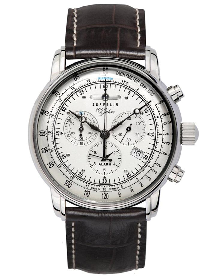 Zeppelin Graf Zeppelin Chronograph Herrenuhr, Silberfarben