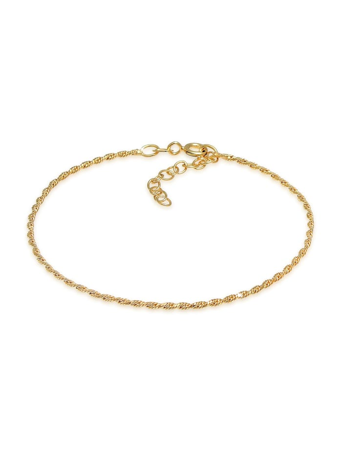 Elli Armband Gedreht Kordel Twist 925 Silber, Gold