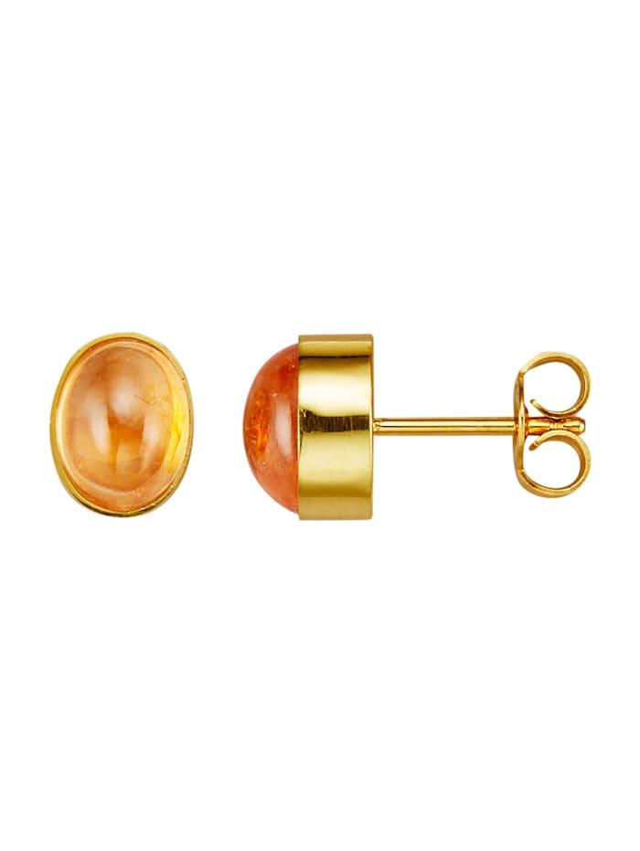 Amara Pierres colorées Boucles d'oreilles avec grenats mandarine, Orange