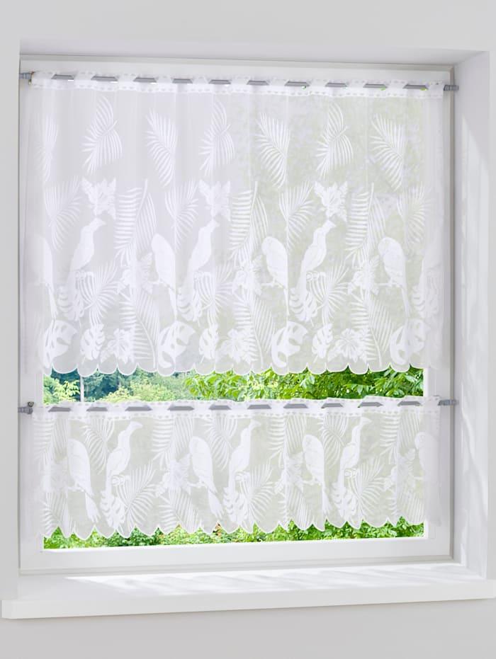 Webschatz Kleinfensterset 'Papugi' 2tlg., weiß