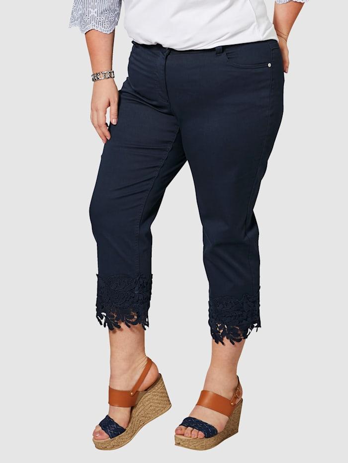7/8 Straight Cut Jeans mit Spitze