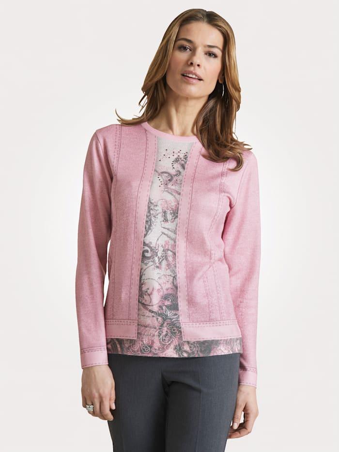 DiStrick Pullover 2in 1 - Pullover, Rosé/Grau