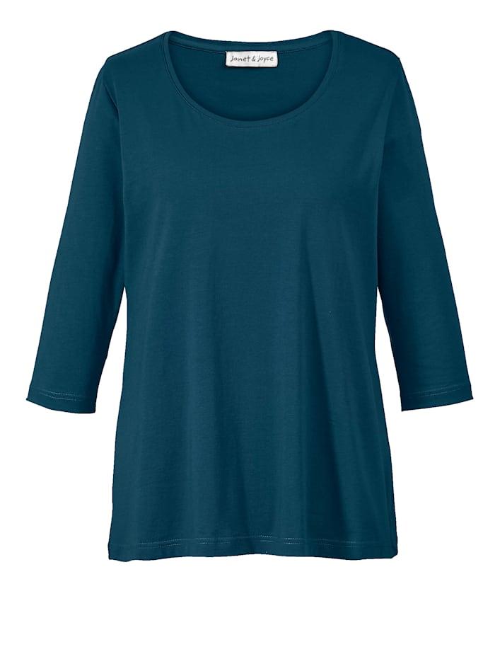Janet & Joyce Basic shirt, Donkerblauw