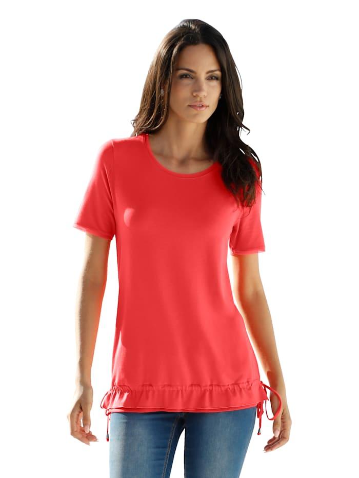 AMY VERMONT Shirt mit Netzeinsätzen, Koralle