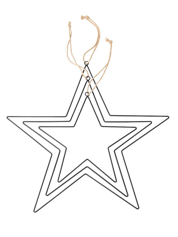 Set van 3 stervormige hangers