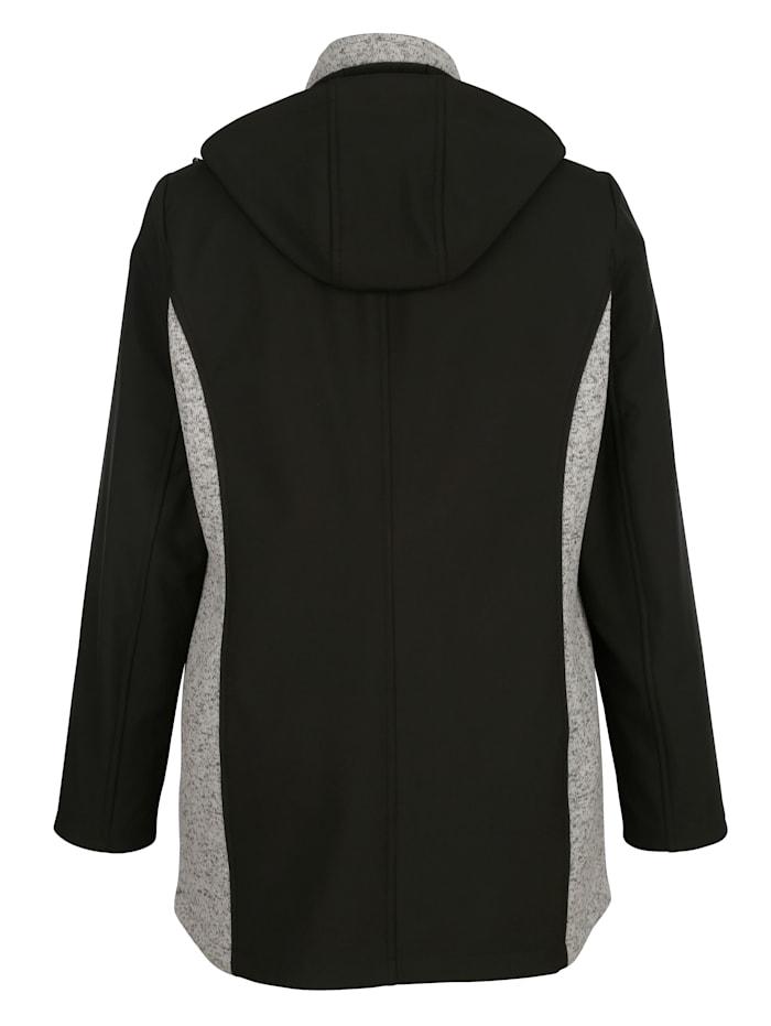 Veste softshell avec empiècements tricotés