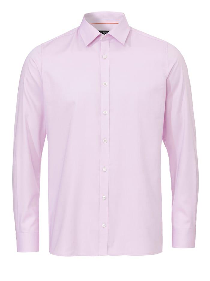 Jupiter Hemd mit feinem Strukturmuster, uni rosa
