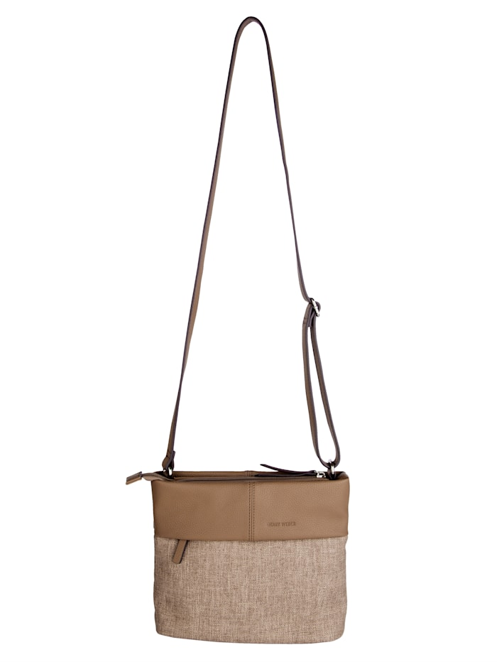 Gerry Weber Shoulder bag in a chic embossed finish, Taupe