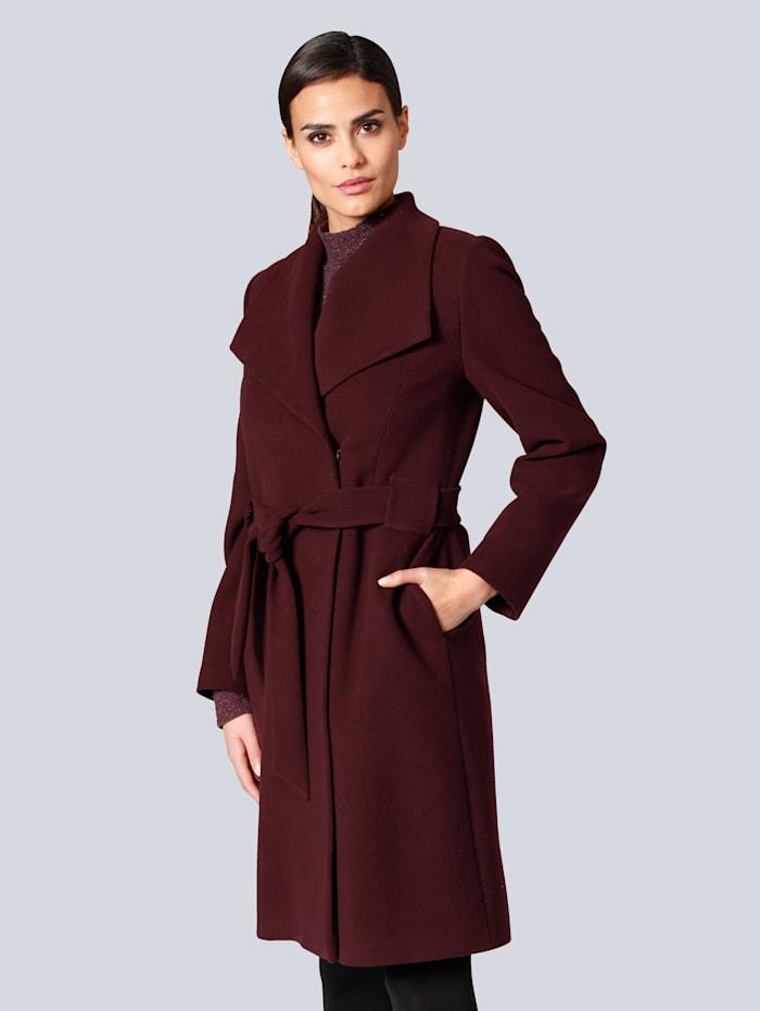 Alba Moda Mantel in femininer Form, Bordeaux