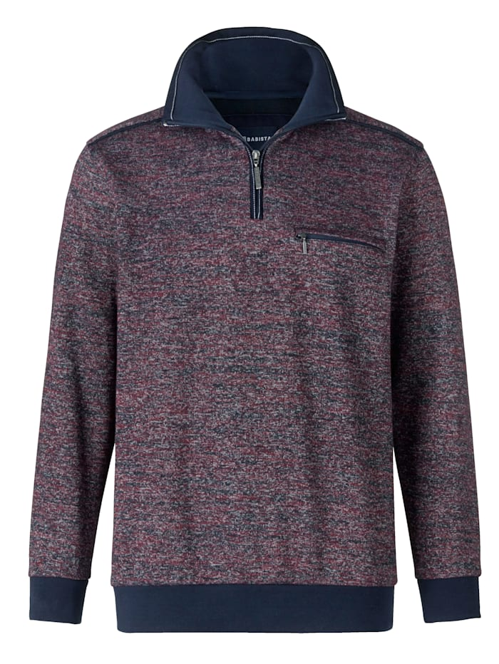 BABISTA Sweatshirt in zweifarbiger Optik, Pflaume