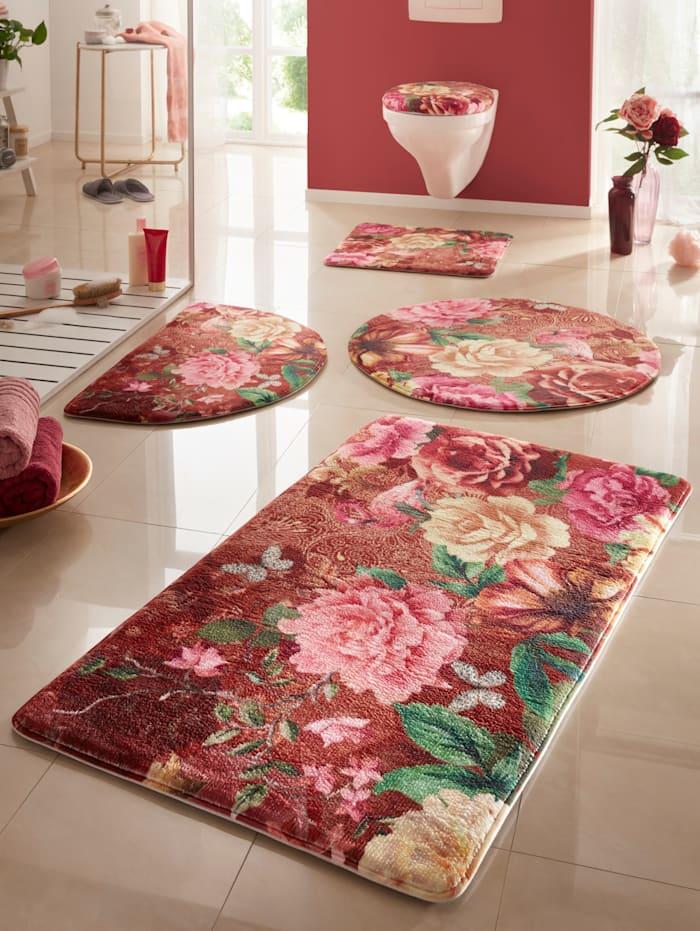 Webschatz Ensemble de salle de bain 'Harbin' à mousse mémoire de forme, Multicolore
