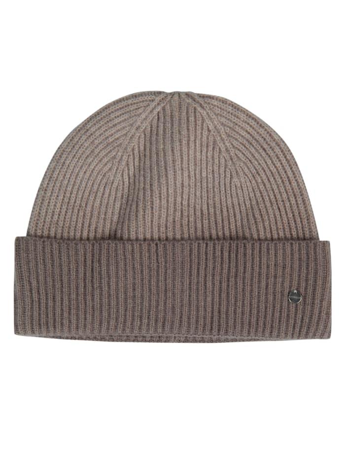Codello Mütze aus Wolle mit Kaschmir, taupe