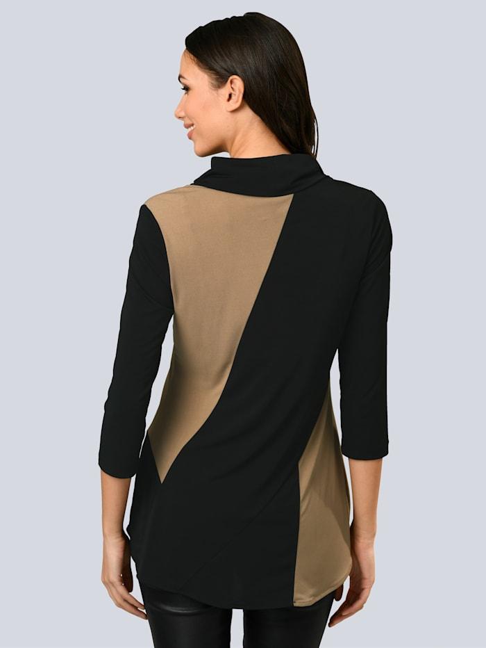 Shirt in schönem Colour-Blocking Dessin