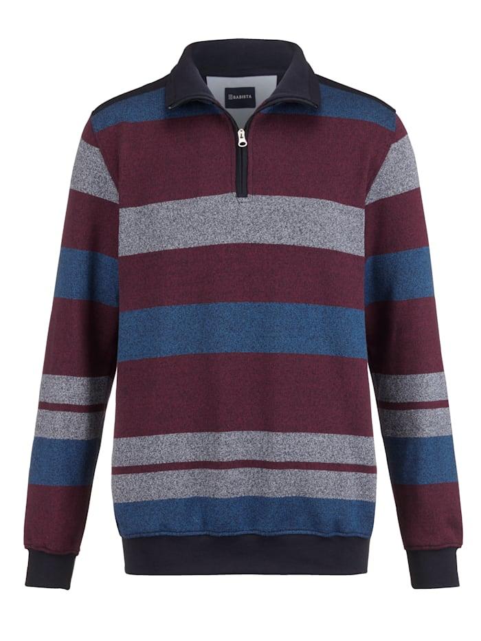 BABISTA Sweat-shirt d'aspect bicolore, Bordeaux/Bleu