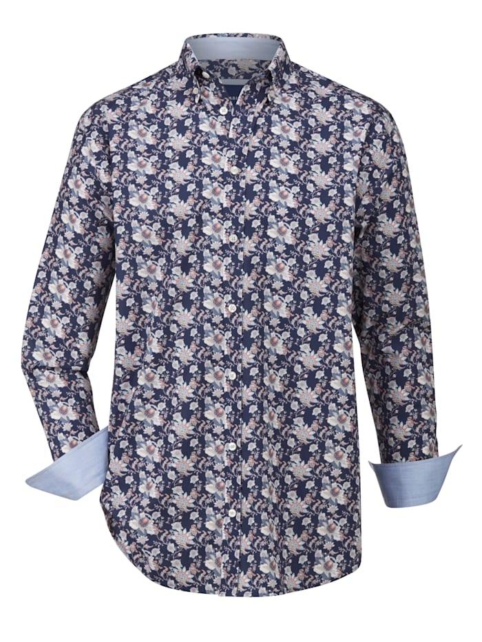 BABISTA Overhemd met dessin rondom, Marine/Roze