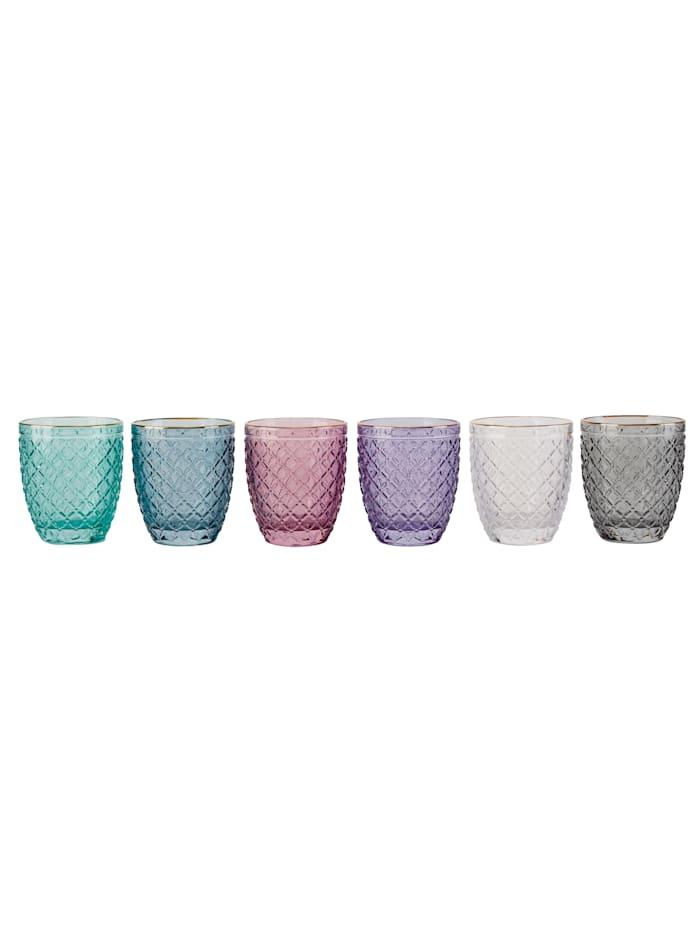 IMPRESSIONEN living Wasserglas-Set, 6 tlg., Multicolor