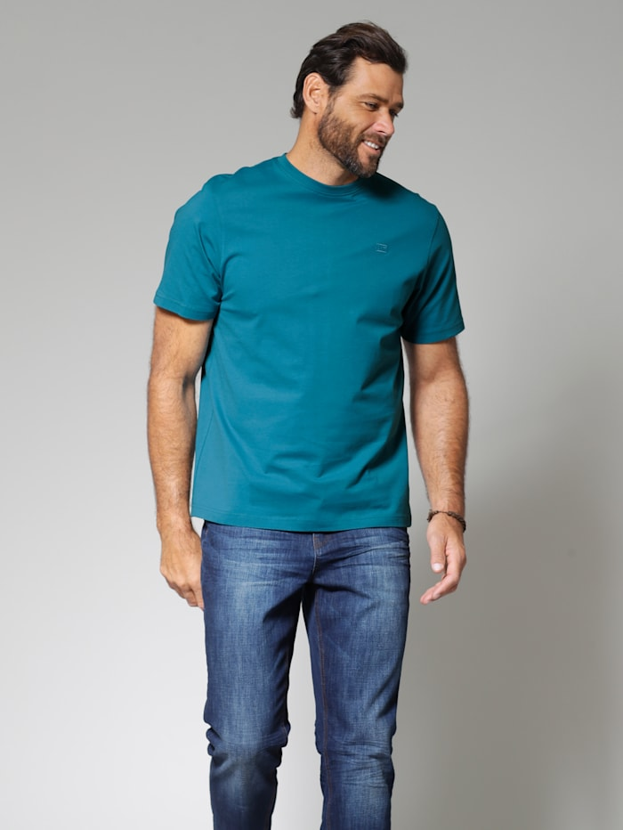 Men Plus T-Shirt, Petrol