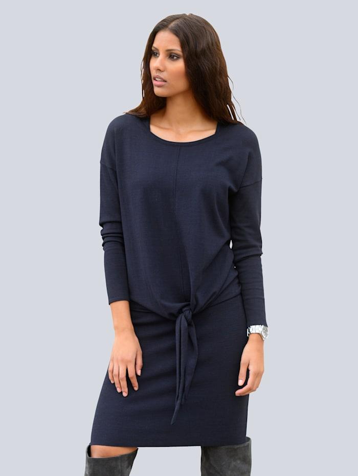 Alba Moda Kleid bestehend aus Tanktopkleid und Oversizedpullover, Marineblau