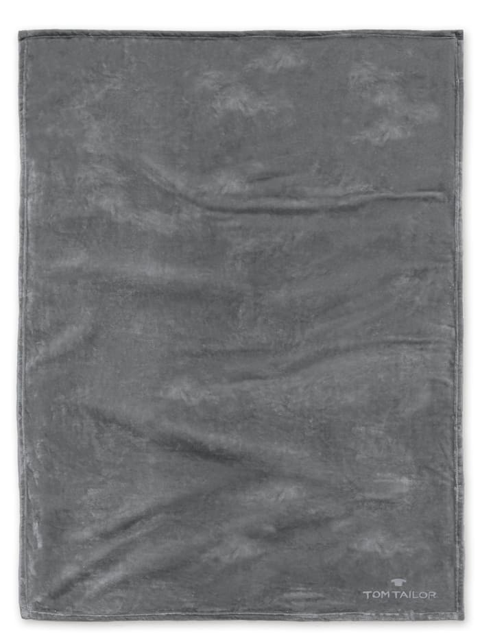 Tom Tailor Angorina-Fleece Decke, dkl. grau
