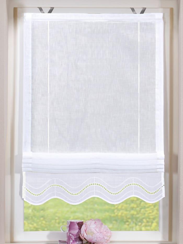 """Home Wohnideen Store à plisser """"Celia"""", blanc"""